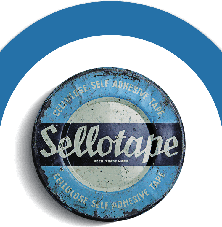 Old Sellotape Tin - Cellulose Self Adhesive Tape